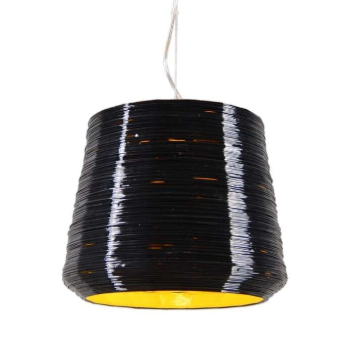 Lampada-a-sospensione-'Como-38'-moderna-nera/plastica---adatta-per-LED-/-interna