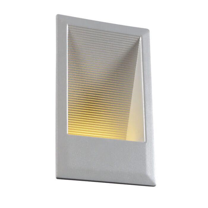 Faretto-da-incasso-da-parete-'LEDlite-S'-moderno-alluminio---include-LED-/-esterno,-interno,-bagno