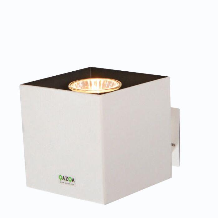 Faretto-con-spina-'Plug-Q'-moderno-blanco/metallo---adatto-per-LED-/-interno