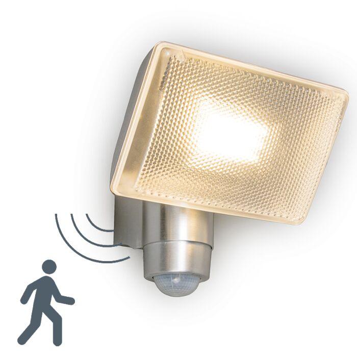 Faretto-proiettore-da-parete/soffitto-'VAP-Delux'-moderno-alluminio---include-LED-/-esterno