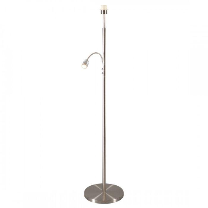 Lampada-da-terra-con-braccio-flessibile-'Combi-1-1-'-moderna-acciaio---adatta-per-LED-/-interna