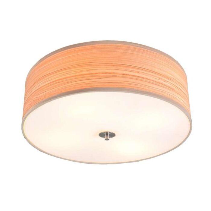 Plafoniera-grande-'Drum-50'-moderna-caffè/plastica---adatta-per-LED-/-interna