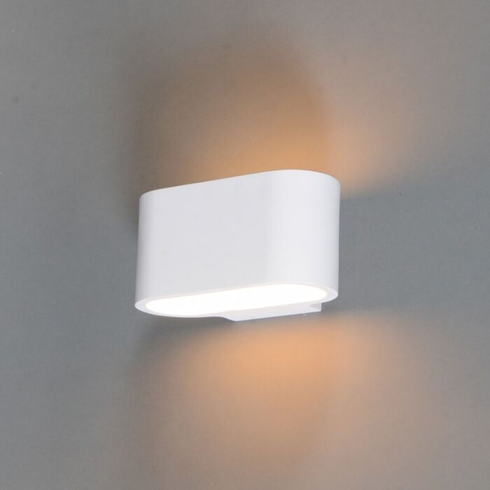 Lampada-da-parete-moderna-bianca-piatta---Gipsy-Arles
