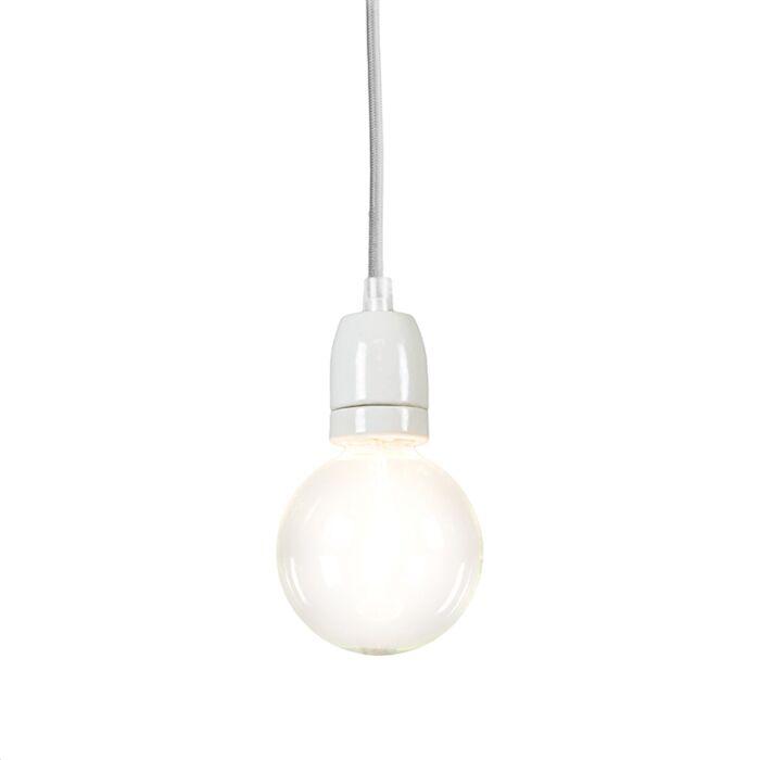Lampada-a-sospensione-minimalista-'Cavo'-moderna-grigia/tessuto---adatta-per-LED-/-interna