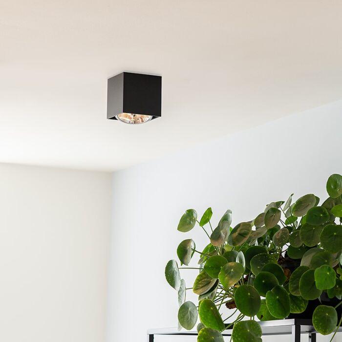 Design-spot-quadrato-1-luce-nero-incl.1-x-G9---Scatola