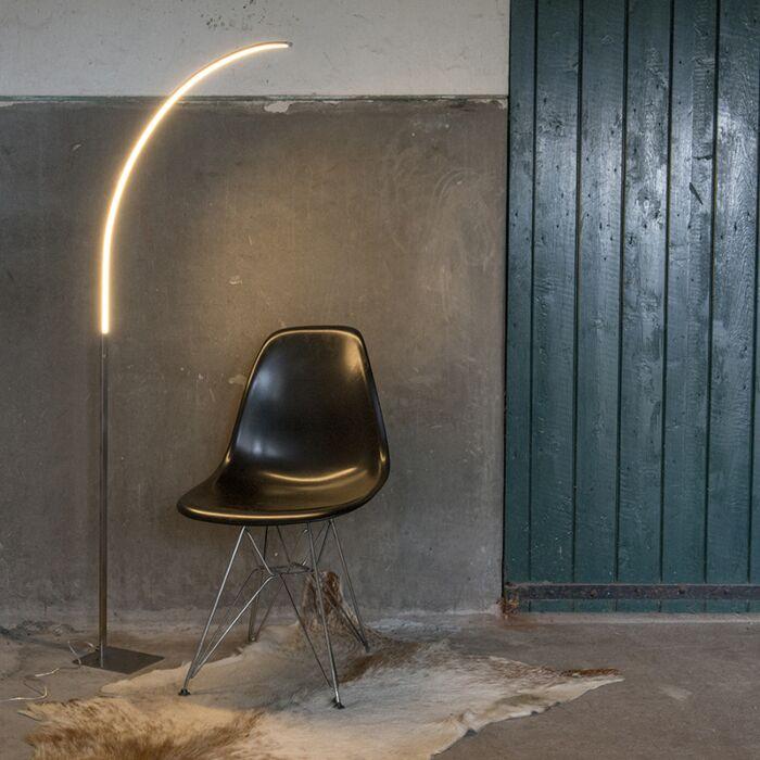 Lampada-da-terra-moderna-in-acciaio-con-LED-e-dimmer-a-3-gradini---Elegante