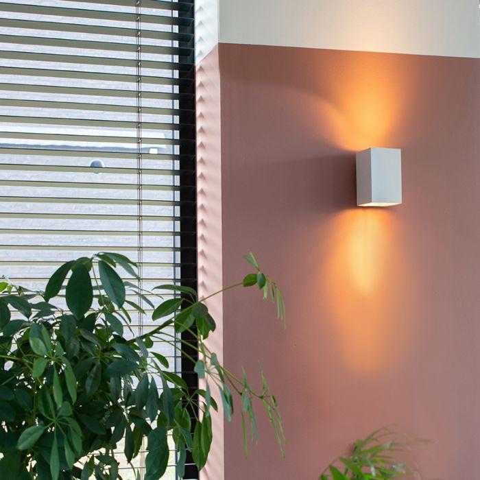 Lampada-da-parete-moderna-quadrata-bianca---Sandy