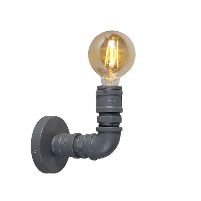 Lampada-da-parete-industriale-grigio-scuro---Idraulico-1