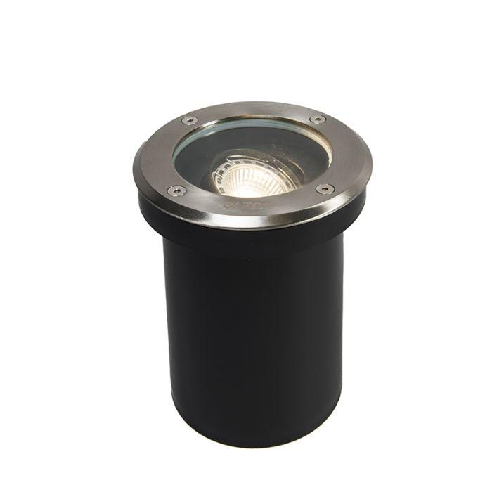 Set-di-5-faretti-da-esterno-in-acciaio-inossidabile-IP65---Delux