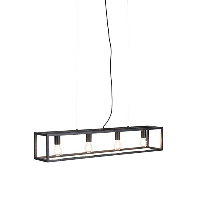 Lampada-a-sospensione-industriale-nera---CAGE-4