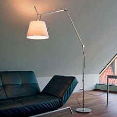 Lampada-da-terra-in-alluminio-con-paralume---ARTEMIDE-Tolomeo-Mega-Terra