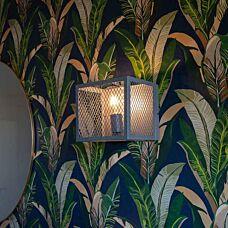 Lampada-da-parete-industriale-argento-antico---Cage-Robusto